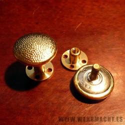 Botones dorados de rosca para hombreras