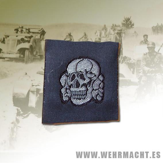 Waffen SS Officers silk woven cap skull