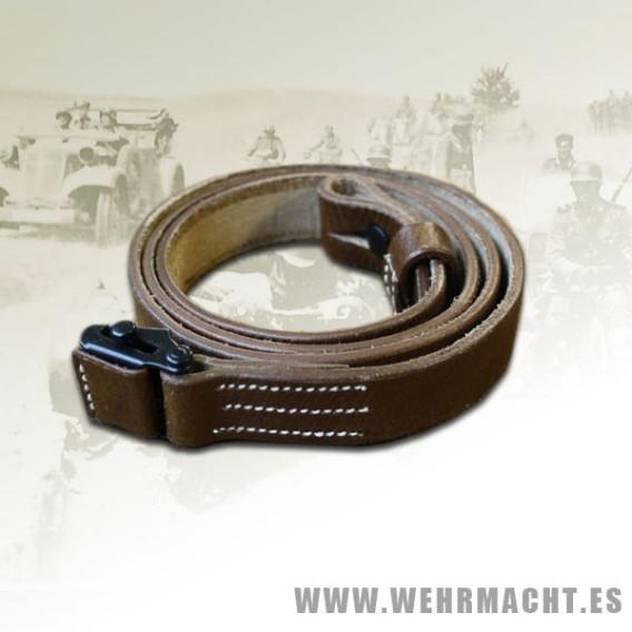 MP40 leather sling, dark brown