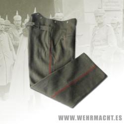 M1907/10 Feldhose Feldgrau Ribeteado