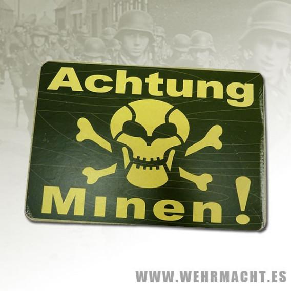 """Cartel """"Achtung Minen"""""""