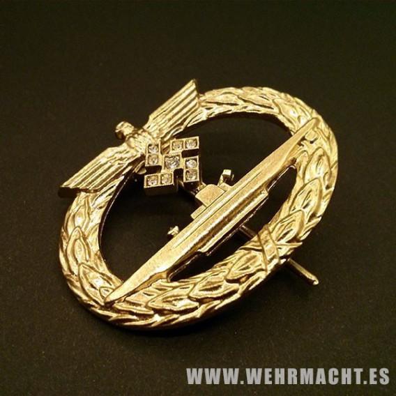 Distintivo de Combate de Submarinosen oro y diamantes