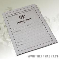 Permiso de conducir Waffen SS (Führerschein)