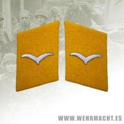 Fallschirmjäger enlisted man's collar patches, Shutze/Unteroffizier