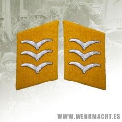 Parches de cuello Fallschirmjäger, Obergefreiter/Feldwebel