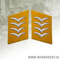 Fallschirmjäger enlisted man's collar patches, Hauptgefreiter/Oberfeldwebel