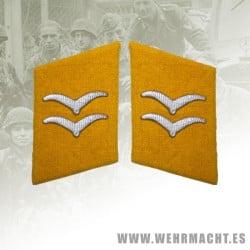 Fallschirmjäger enlisted man's collar patches, Gefreiter/Unterfeldwebel