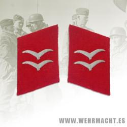 Luftwaffe Flak Unitsenlisted man's collar patches, Gefreiter/Unterfeldwebel