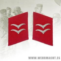 Parches de cuello Luftwaffe Artillería, Gefreiter/Unterfeldwebel