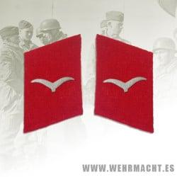 Luftwaffe Flak Units enlisted man's collar patches, Shutze/Unteroffizier