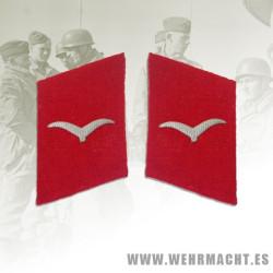Parches de cuello Luftwaffe Artillería, Shutze/Unteroffizier