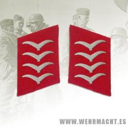 Luftwaffe Flak enlisted man's collar patches, Hauptgefreiter/Oberfeldwebel