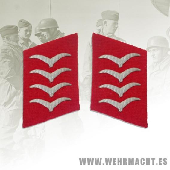 Parches de cuello Luftwaffe Artillería, Hauptgefreiter/Oberfeldwebel
