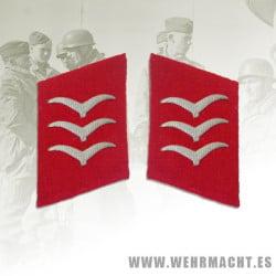 Parches de cuello Luftwaffe Artillería, Obergefreiter/Feldwebel