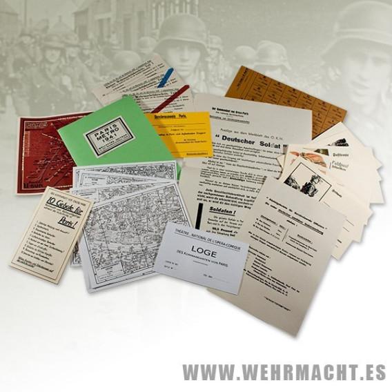 Documentación para el soldado alemán en Paris