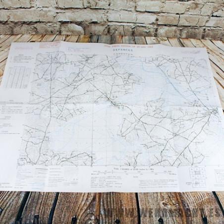 Mapa de las defensas de Carentan (Junio 1943)