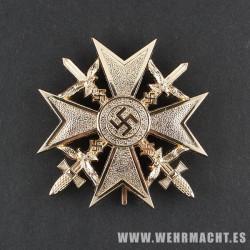 Cruz Española con Espadas, Oro