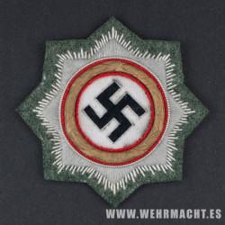 German Cross in Gold (Deutsche Kreuz) Feldgrau embroidered