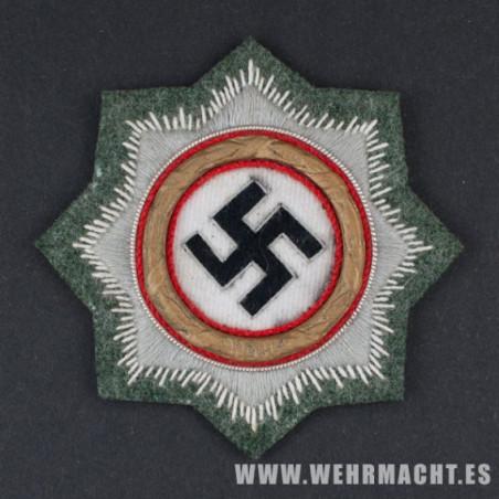 Cruz Alemana en Oro (Deutsche Kreuz) Bordado Feldgrau