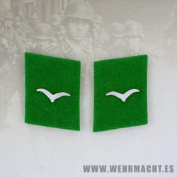 Felddivision enlisted man's collar patches, Shutze/Unteroffizier