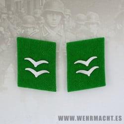 Felddivision enlisted man's collar patches, Gefreiter/Unterfeldwebel