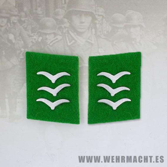 Parches de cuello Felddivision, Obergefreiter/Feldwebel