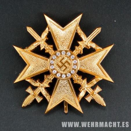 Cruz Española con Espadas, oro y diamantes