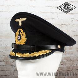 Kriegsmarine Senior Officer Blue Visor Cap - EREL®