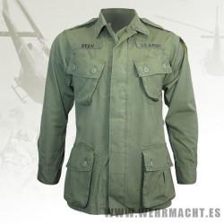Chaqueta de combate OD M64 U.S. Vietnam