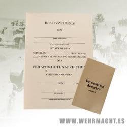 Wound Medal certificate + envelope