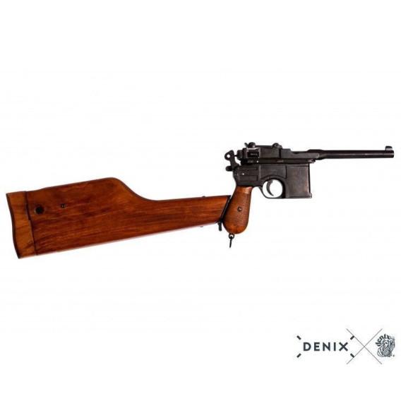 Pistola Mauser C96 con funda de madera - Denix®