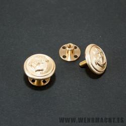 Assmann Kriegsmarine buttons with screwback fixing