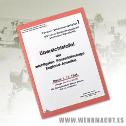 German brochure of allied armored tanks