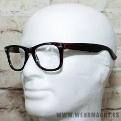 Gafas de pasta con montura tortuga