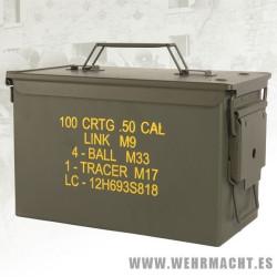 Caja metálica de munición CAL.50 M2A1