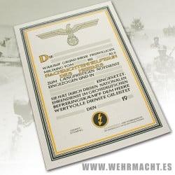 Certificate of the Nachrichtenhelferin