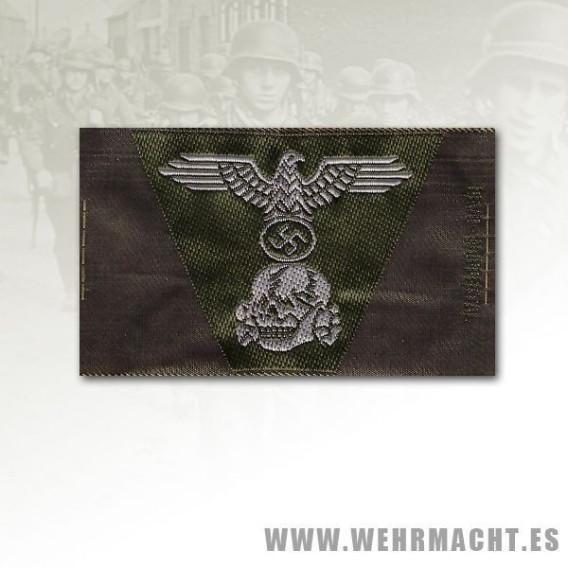 SS mans woven eagle and cockade 1943 trapezoid cap insignia