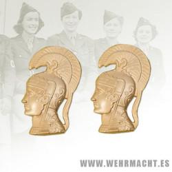Distintivo de cuello en metal para WAC