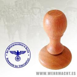 Sello de madera - Kommando der Schutzpolizei