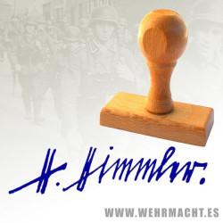 Sello de madera - Firma Heinrich Himmler